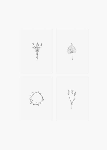 Botanische set van 4 - A5 (3)