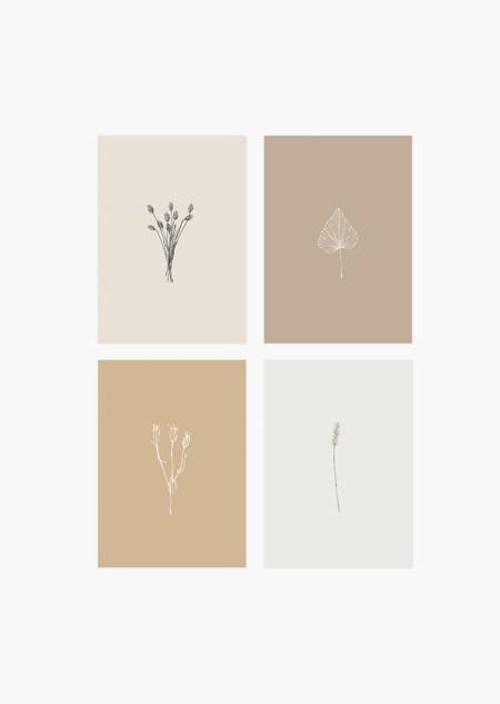 Botanische set van 4 - A5 (6)