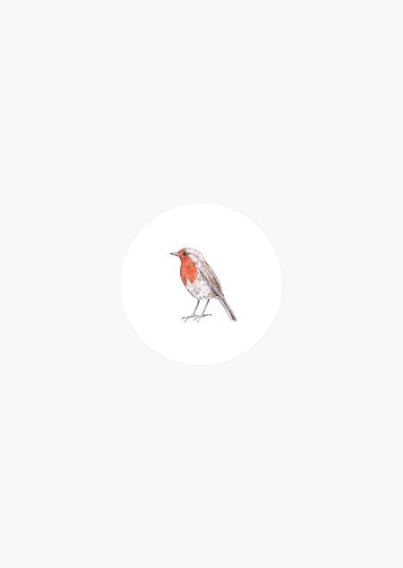Sticker roll - robin (color)