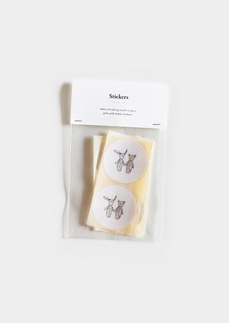 Stickers - teddybear & rabbit
