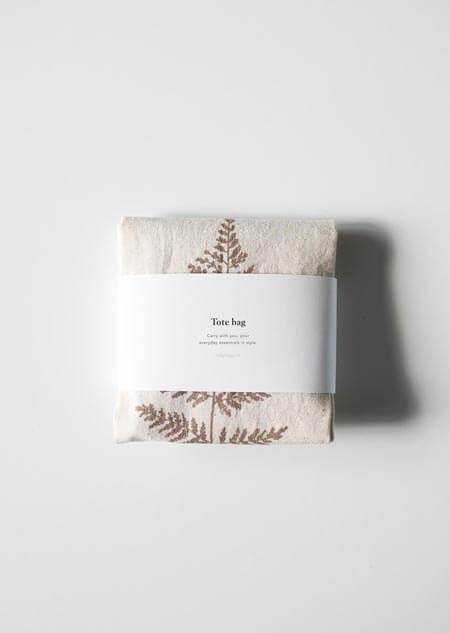 Canvas bag - fern