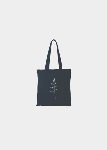 Canvas bag - grass (blue)