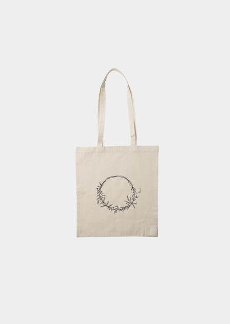 Canvas bag - wreath