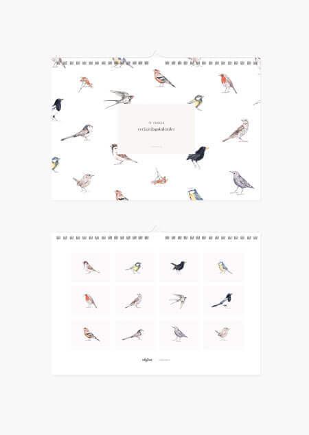 Verjaardagskalender - vogels