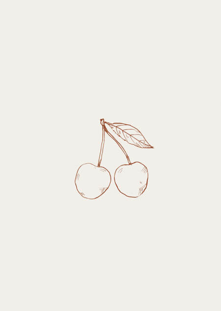 Cherries (beige)
