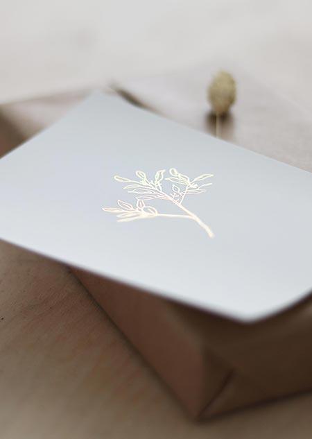 Gold foil - eucalyptus