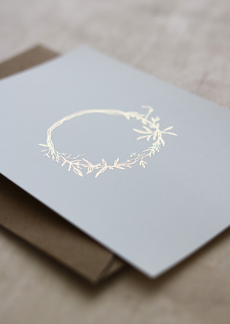 Wreath - gold foil