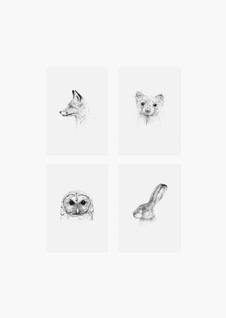 Animal set of 4
