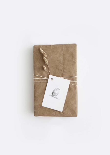 Label - 10x roodborstje