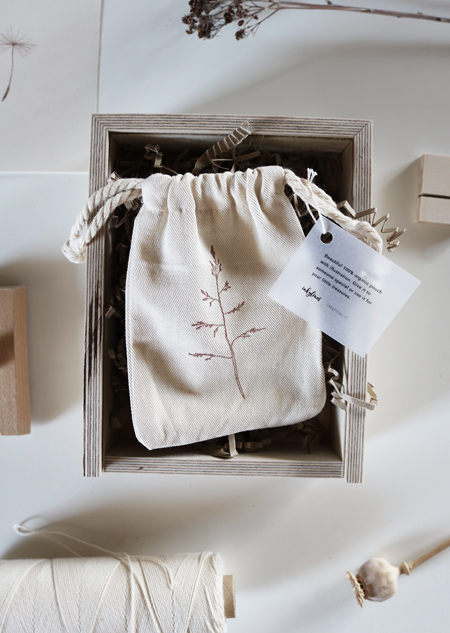 Cotton pouch - grass (small)