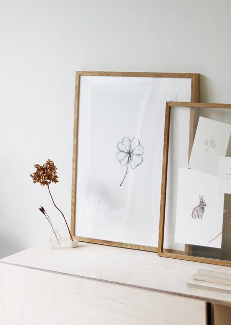 Textile poster - four-leaf clover