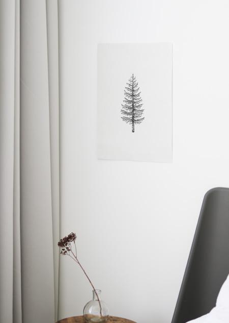 Katoenen poster - dennenboom