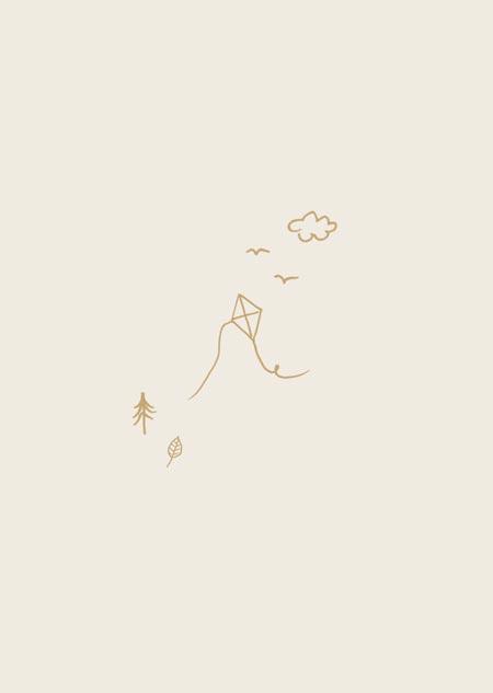 Vlieger (beige)