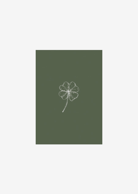 Label - 10x klavertje vier (groen)