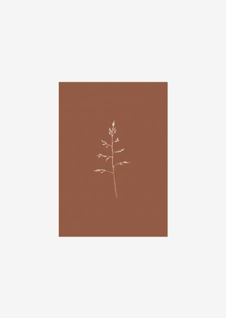 Label - 10x gras (bruin)