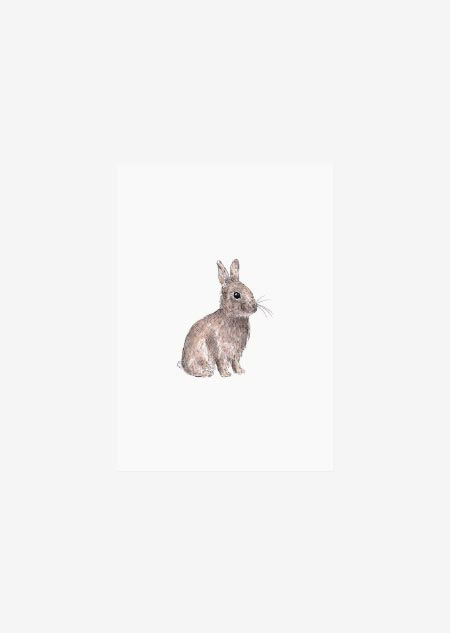 Label - 10x konijntje (kleur)
