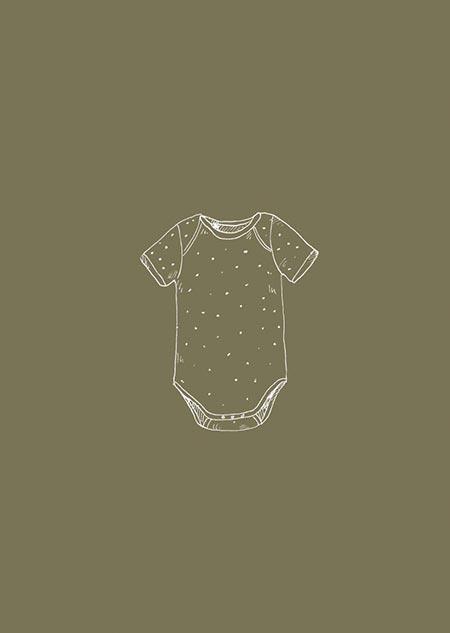 Romper dots (olive)