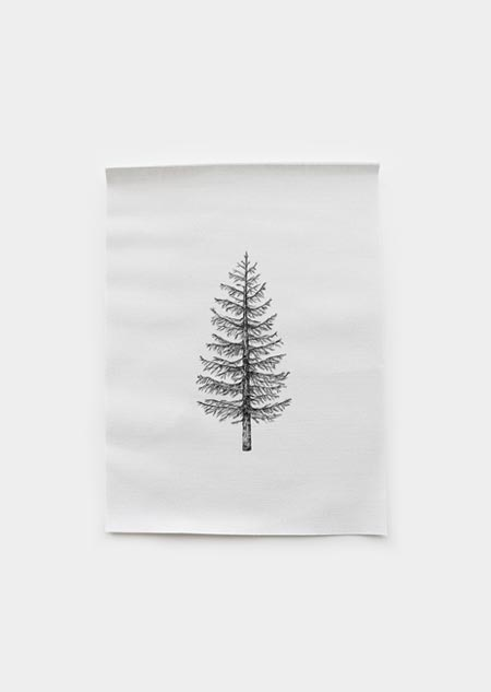 Textile poster - pine tree