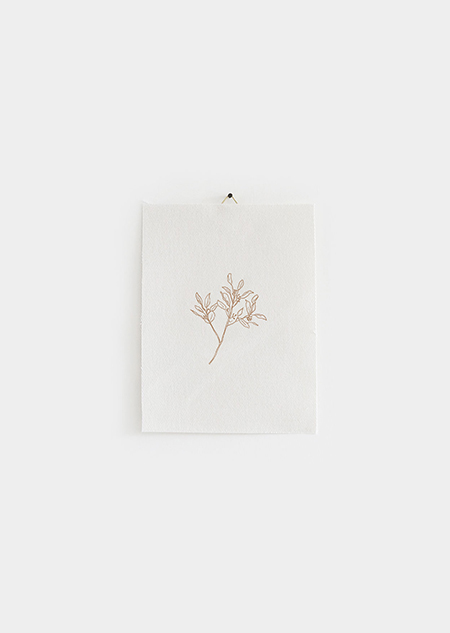 Katoenen poster - eucalyptus (beige) (small)