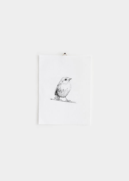 Textile poster - robin (small)