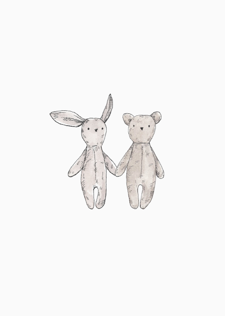 Teddybear and rabbit