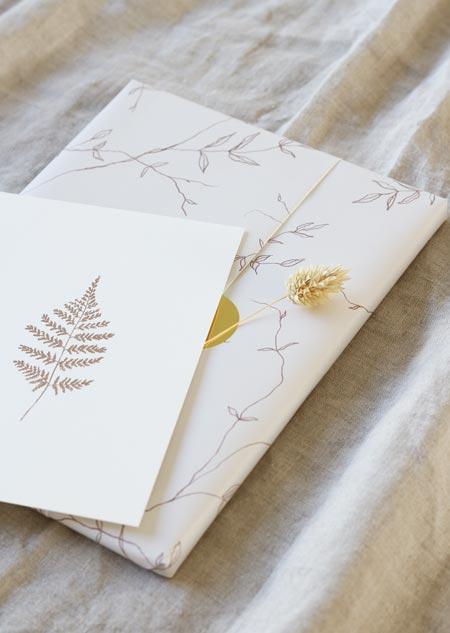 Inpakpapier - jasmijn