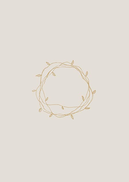Wreath 2 (beige)