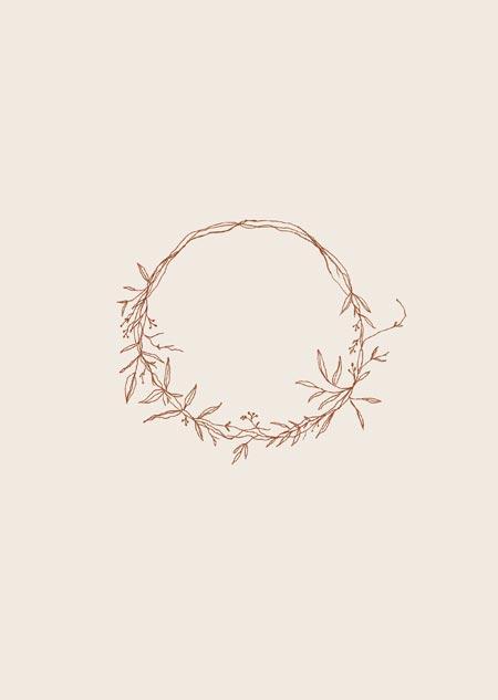 Wreath (beige)